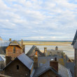 Foto Stock: Mont Saint Michel, inside city , France
