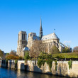 Foto Stock: Notre Dame cathedral, Paris France
