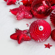 Red new years decorations — Stock Photo #14746931