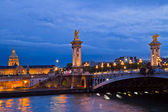 Alexandre III Bridge in Paris, France — Foto de Stock