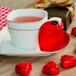 Lunch at valentines day — Stock Photo