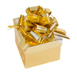 Golden gift box — Foto Stock