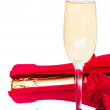 Valentine's day champagne — Stock Photo #15867355