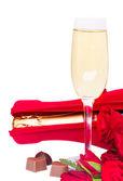 Giorno di San Valentino champagne — Foto Stock