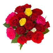 круглый букет из роз — Стоковое фото