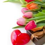 Valentines day tulips — Stock Photo #16284427