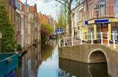 старый город, дельфт, нидерланды — Стоковое фото