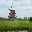 Dutch windmill in Kinderdijk - Stock Photo