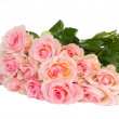 Bouquet of fpink  roses — Stock Photo