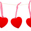 Hanging hearts — Stock Photo