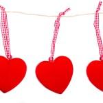 Hanging hearts — Stock Photo