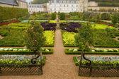 Jardín en chateau de villandry, francia — Foto de Stock