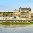 Amboise over Loire river, France - Stock Photo