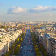 The Avenue des Champs-Elysees, Paris - Stock Photo
