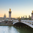 Bridge of Alexandre III,  Paris - Stock Photo