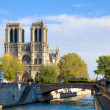 Notre Dame cathedral church, Paris, France — Stock Photo