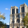 Stock Photo: Facade of Notre Dame cathedral, Paris, France