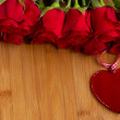 Royalty-Free Stock Photo: Red roses with heart