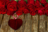 Roses with heart — Stock Photo