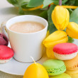 Cup of coffee on easter — Stock Photo
