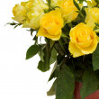 Yellow roses in pot — Stock Photo #18688733