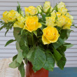 Bouquet of yellow roses — Stock Photo #18931837