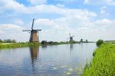 голландские ветряные мельницы — Стоковое фото