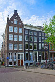 Old houses of Amsterdam, Netherlands — Stock Photo