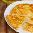 Tortilla  - spanish omelette close up — Stock Photo