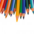 Back to schooll border of pencils — Stock Photo