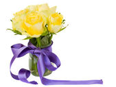 Yellow roses posy — Stock Photo