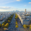 Skyline of Paris from place de l'Étoile, France — Stock Photo #19688841