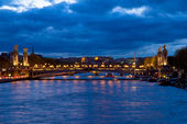 Bridge of Alexandre III at night, Paris, France — Stock Photo