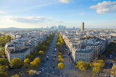 Skyline of Paris from place de l'Étoile, France — Stock Photo