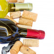 Bottles of white and red  wine - Foto de Stock