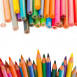 Back to schooll borders of pencils — Stock Photo