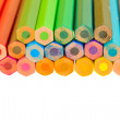 Border of multicolored pencils — Stock Photo