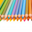Border of multicolored pencils — Stock Photo #20031181