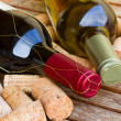 White and red  wine bottles - Foto de Stock