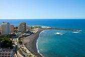 Panoramę z puerto de la cruz na teneryfe, hiszpania — Zdjęcie stockowe