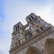 Facade of Notre Dame  Paris, France — Stock Photo