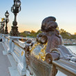 Bridge of Alexandre III in  Paris, France - Stock Photo