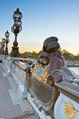 Bridge of Alexandre III in Paris, France — Stock Photo