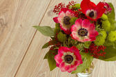 Bouquet of red anemone flowers — Stock Photo