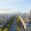 Skyline of Paris and La Defense district , France - Stock Photo
