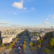 Skyline of Paris from place de l'Étoile, France — Stock Photo #21805417
