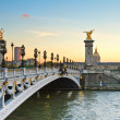 Bridge of Alexandre III at sunset — Stock Photo #21807041