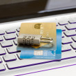 Stock Photo: Internet transaction security concept