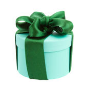 Green gift box — Stock Photo