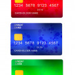 Set of three credit cards — Stock Photo #22402855